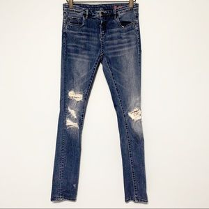 BLANK NYC girls distressed patched skinny jeans 14